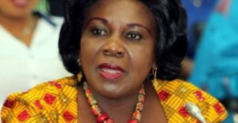 Cecilia Abena Dapaah is Sanitation and Water Resources Minister