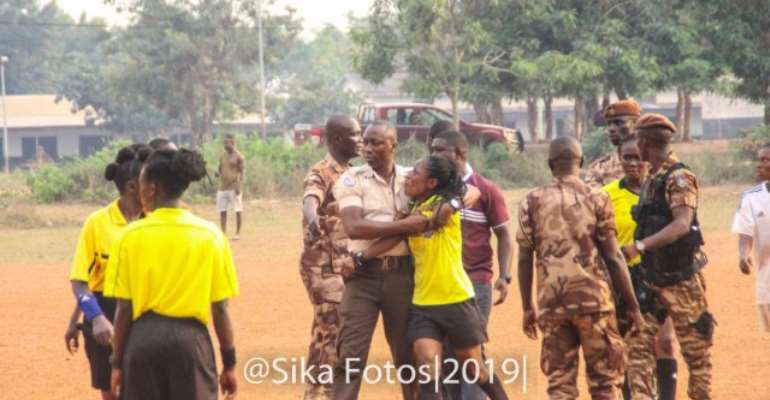 Referee Theresa Bremansu Unhappy With GHC 5000 Fine Handed To Prison Ladies