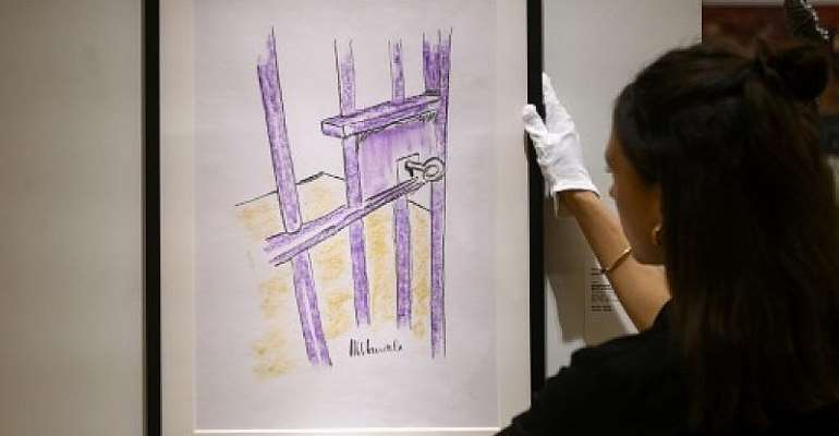 Prison drawing by Nelson Mandela to be auctioned in New York