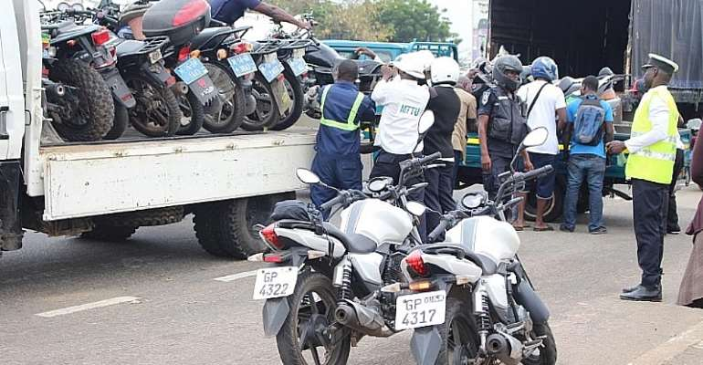 Operation Social Distancing Team Impounds 200 Motorbikes In Accra