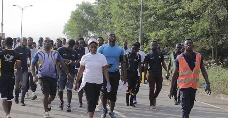 Accra Earthquake Alert Health Walk For June 1