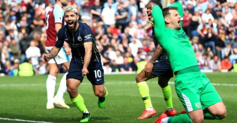 Man City Edge Past Burnley To Go Top Again With Two To Play