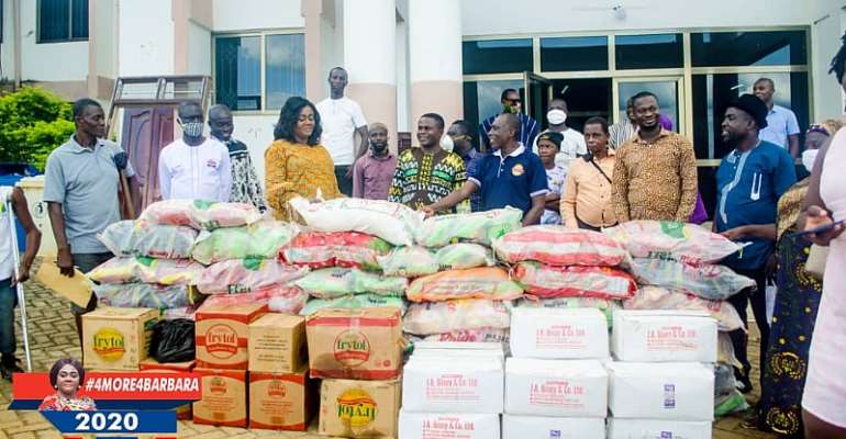 Prestea Huni-valley MP Donate Food Items To Ghana Federation Of Disability Organisation