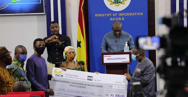 Private Schools Support COVID-19 With Ghc50,000