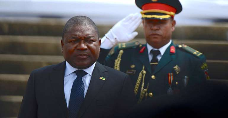 President Filipe Jacinto Nyusi is seen in Maputo, Mozambique, on January 15, 2020. CPJ recently joined a letter to Nyusi expressing concern about the disappearance of journalist Ibraimo Abú Mbaruco. (Reuters/Grant Lee Neuenburg)