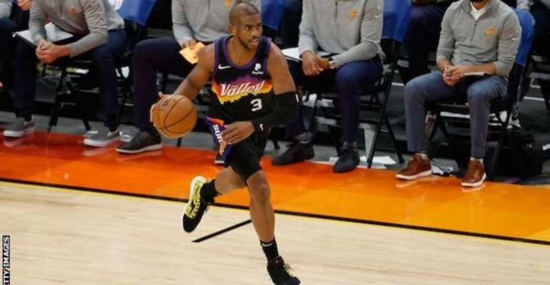 The Phoenix Suns' Chris Paul scored 28 points and made 10 assists