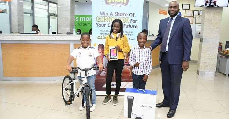 Olumide Olatunji with top three winners of the Access Got Talent