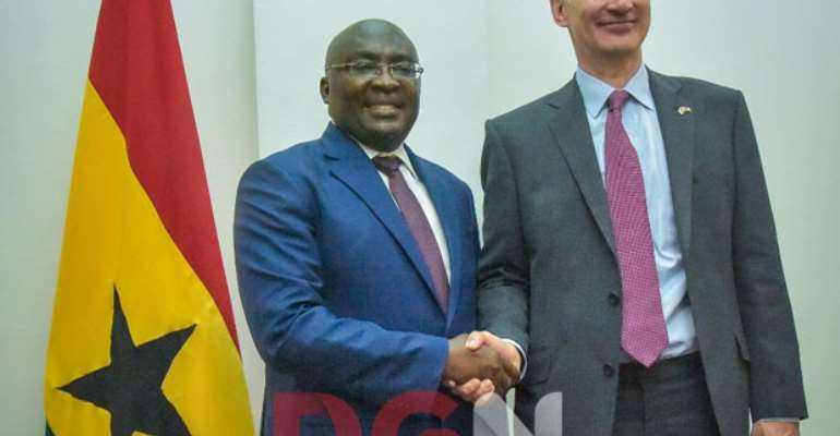 Vice-President Bawumia with British Secretary Of State For Foreign and Commonwealth, Jeremy Hunt
