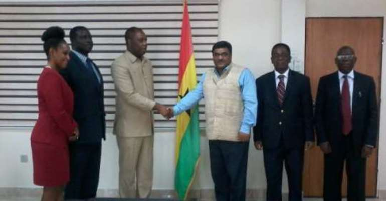 Indian High Commissioner pays courtesy call Education Minister