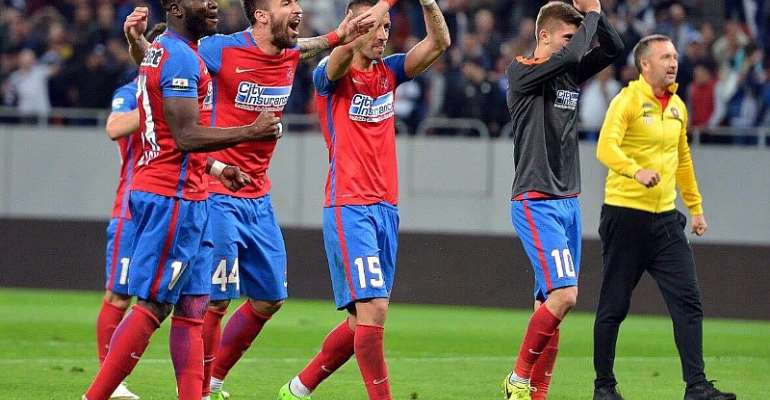 Muniru Sulley on cloud nine after FCSB defeat Dinamo Bucuresti in Romanian top-flight derby