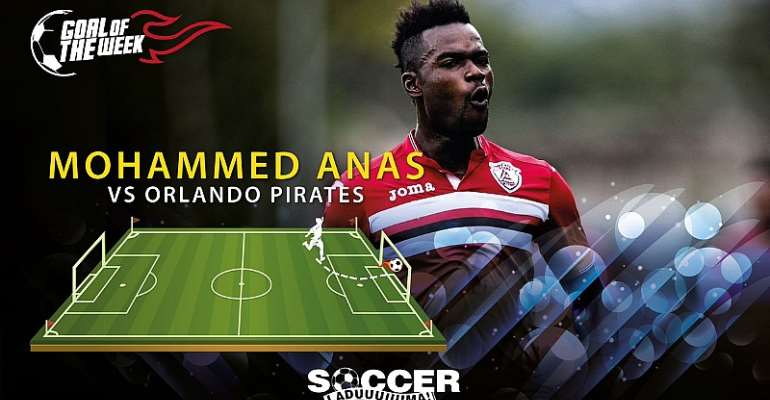 Mohammed Anas wins Goal of the Week in South Africa after wonderful free-kick
