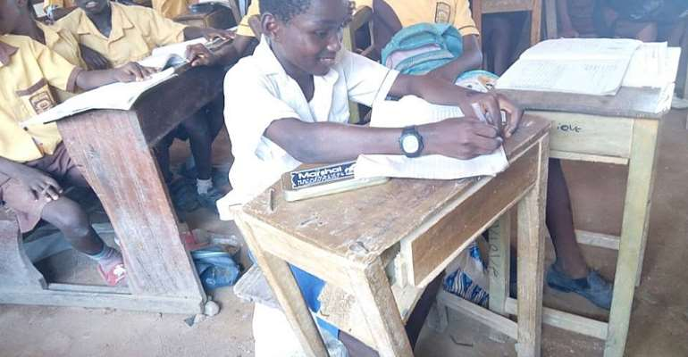 Pupils Sit and Learn On blocks at Esereso D/A Primary School