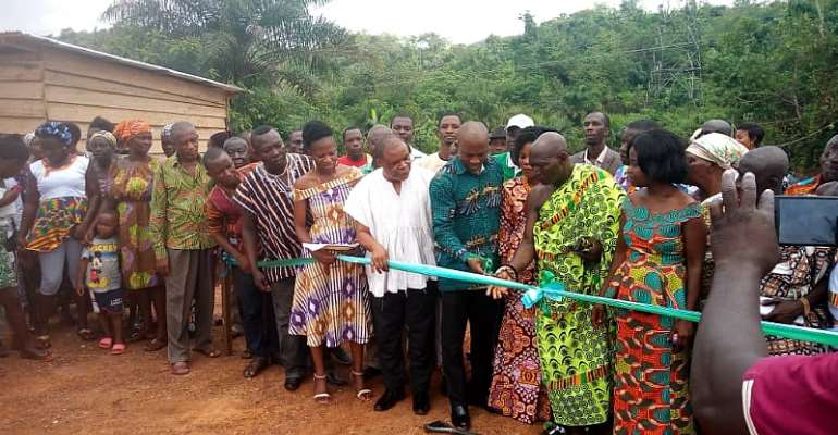 Obuasi East DCE And MP Cut Sod For Construction Of A Clinic At Adansi Odumasi