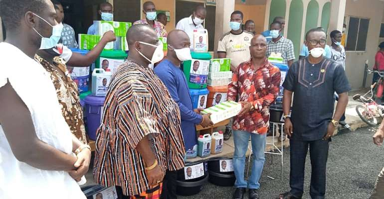 NPP PC For Upper West Akim Constituency Donate Items To Fight Covid-19