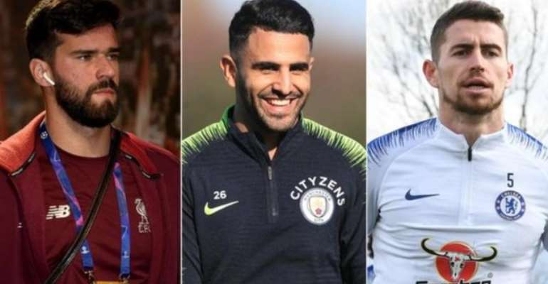 Alisson joined Liverpool, Riyad Mahrez signed for Manchester City and Jorginho arrived at Chelsea in big-money transfers during the 12 months covered by the latest figures
