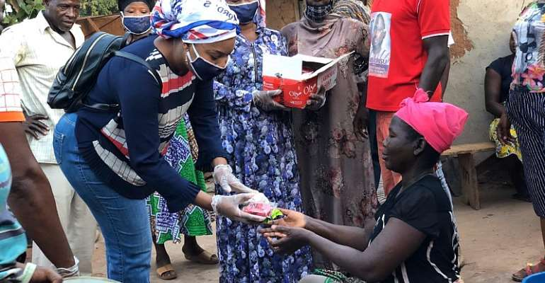 COVID-19: Sagnarigu NPP PC Combines Donation With Education