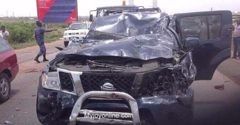 Samson Lardy Anyenini survives fatal car crash