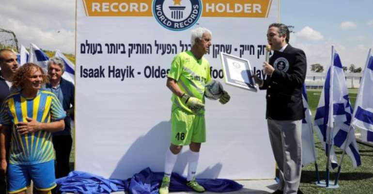 Israeli Becomes World's Oldest Player