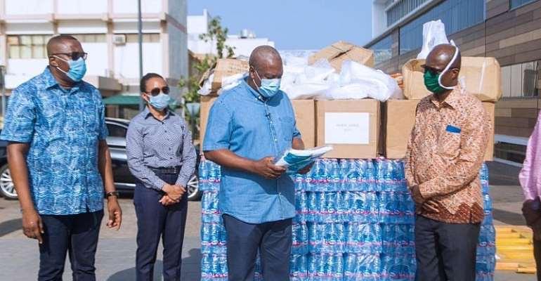 John Mahama Donates PPE To Ridge Hospital To Support COVID-19 Fight