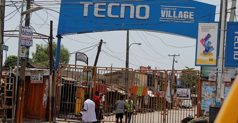 Lagos Computer village, Nigeria's version of Silicon Valley, shut following COVID-19 lock down.  - Source: Photo by Adekunle Ajayi/NurPhoto via Getty Images