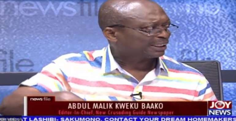 Abdul Malik Kweku Baako says Vice President Mahamudu Bawumi was right in his presentation.