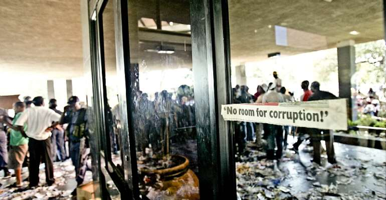 Oukasie residents protest over poor service delivery in 2010. - Source: Jaco Marais/Gallo Images/Getty Images