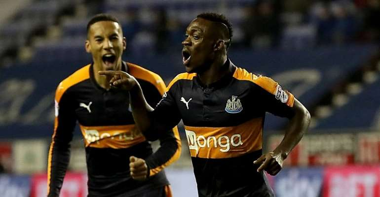 In-form Newcastle winger Christian Atsu hails team mates Gayle and Ritchie for difficult win over Burton