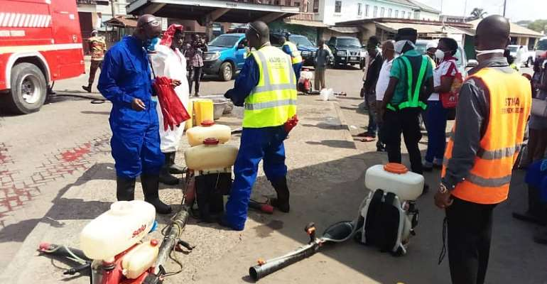 COVID-19: Western Region Undertake Exercise To Disinfect Markets, Other Places