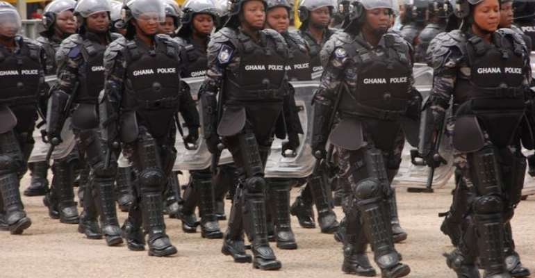 All Women Militarized Police Unit of the Ghana Police Service - Source:
