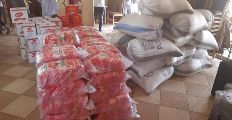 CACI Bantama Central Donates Food Items, Sanitizers To Needy Church Members
