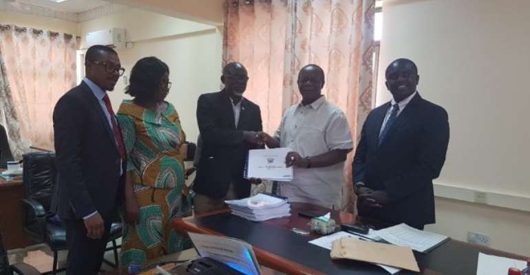 NaCCA Chairman, Prof. Kwame Osei-Kwarteng hands over 12-subject curricula to GES