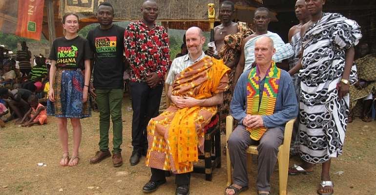UK-Ghana Nature Ambassador Julian B seated with left