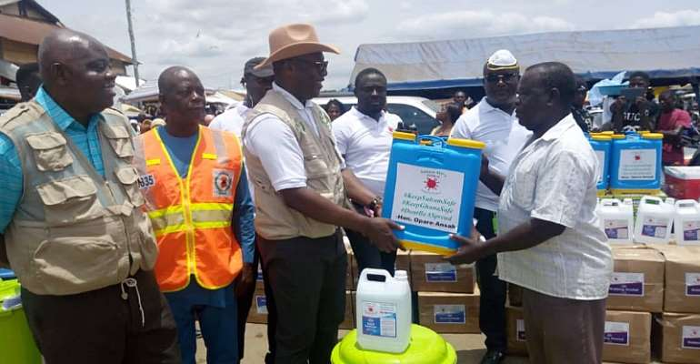 Suhum MP Launches COVID-19 Support Project