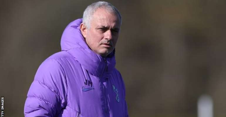 Mourinho was pictured in a London park training with some of his players