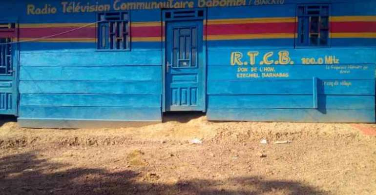The Radio Télé Communautaire Babombi broadcaster office is seen in the Democratic Republic of the Congo. That broadcaster and Radio Communautaire Amkeni Biakato have recently received threats from security forces. (Photo: RTCB)