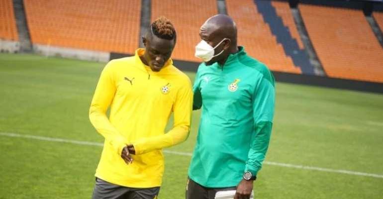 Kwame Poku with Ghana coach, CK Akonnor