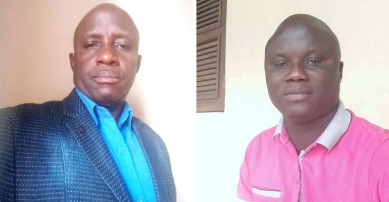 Journalists Sumba Nansil (left) and Sabino Santos (right) are facing a criminal defamation investigation in Guinea-Bissau. (Nansil photo by Bacar Coiate; Santos photo by Santos).