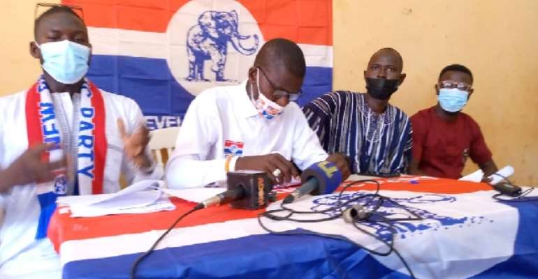 The Concerned Northern Grassroots of the New Patriotic Party (NPP) addressing the press