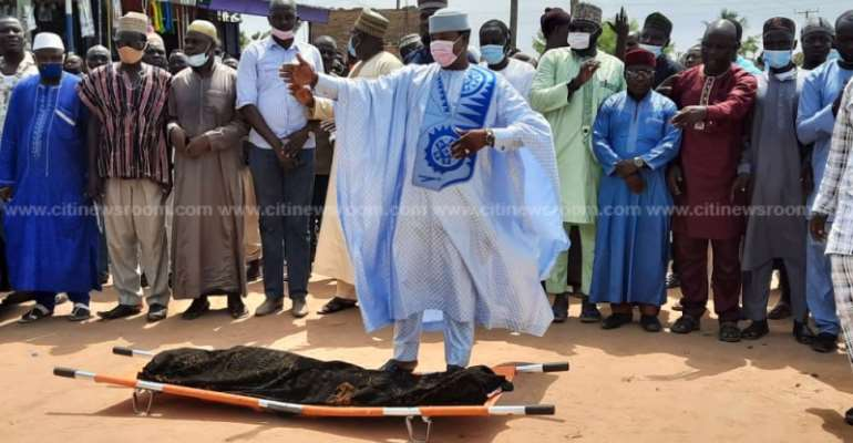 Kasoa ritual killing: Tears flow at funeral of slain 11-year-old boy [Photos]