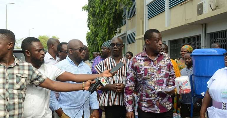 COVID-19: Five MPs In Sekondi-Takoradi Donates To Effia-Nkwanta Hospital
