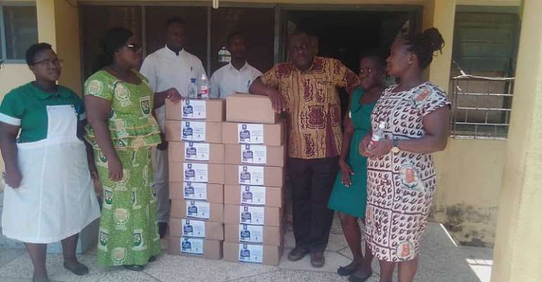 Jaman South MP Donates Sanitizers Worth GHC17,800 To Health Centres