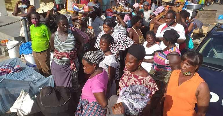 Korle Klottey Closes CMB Market Over Social Distancing Issues