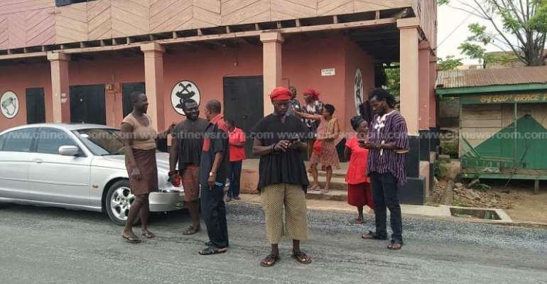 Kasoa ritual killing: Police stop Amanase residents form burning shrine of arrested priestess