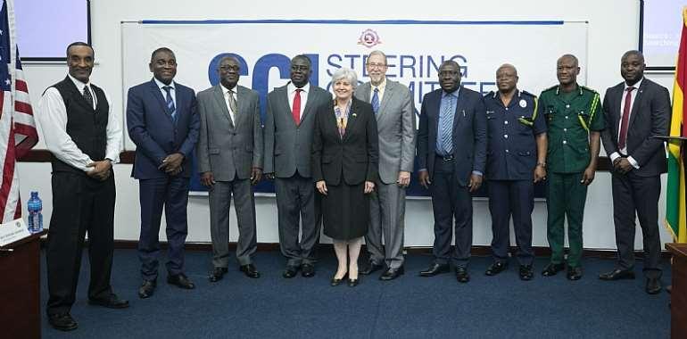 Ambassador Sullivan and Retired Ambassador Michael Arrieti with other dignitaries.