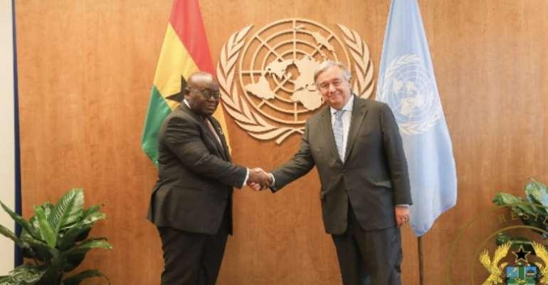 President Akufo-Addo and UN Secretary