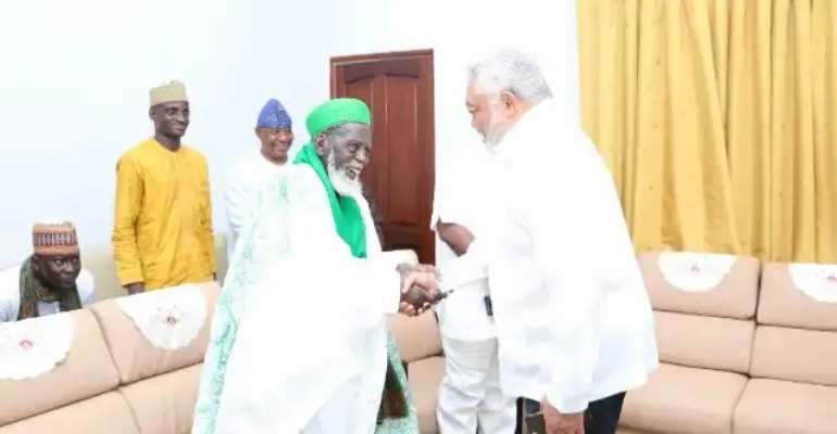 Chief Imam with Rawlings