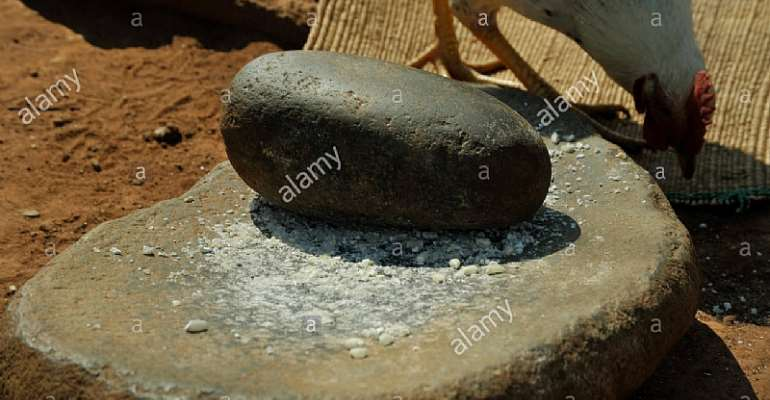 A local grinding stone