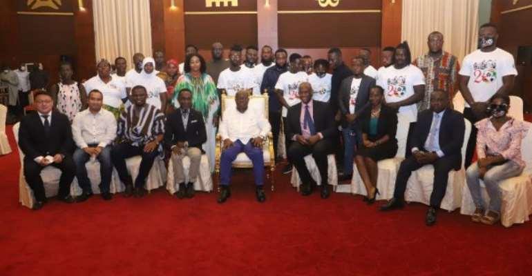 Akufo-Addo meet families of stadium disaster