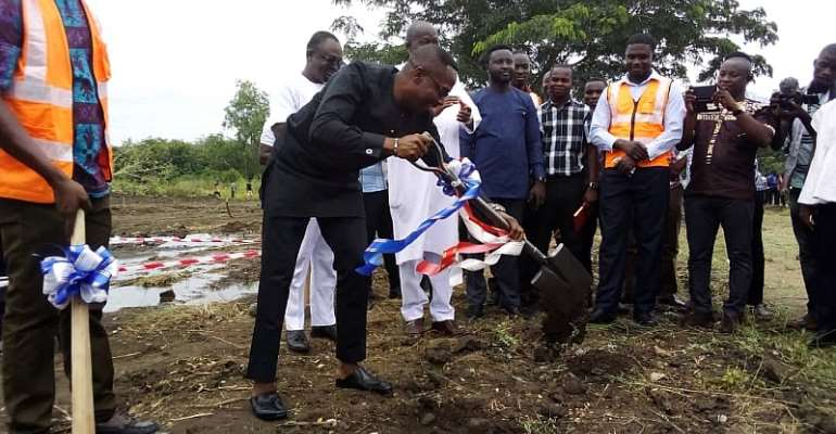 UEW Cut Sod For Food Court, Restaurant For Students, Visitors