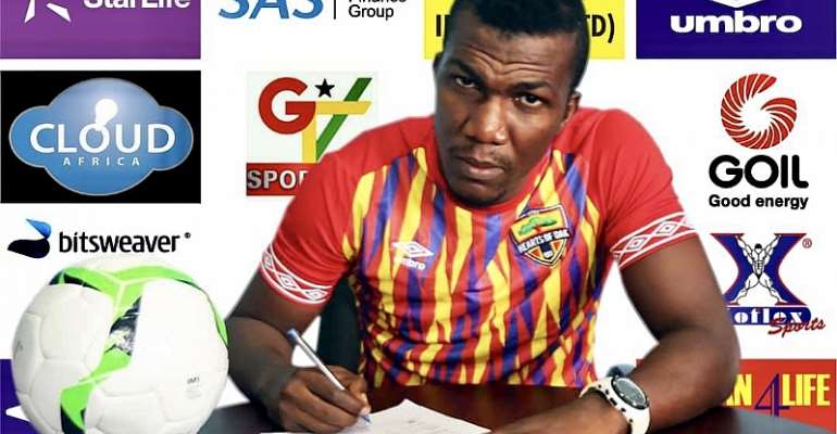 OFFICIAL: Hearts of Oak Unveil New Signing Abednego Tetteh